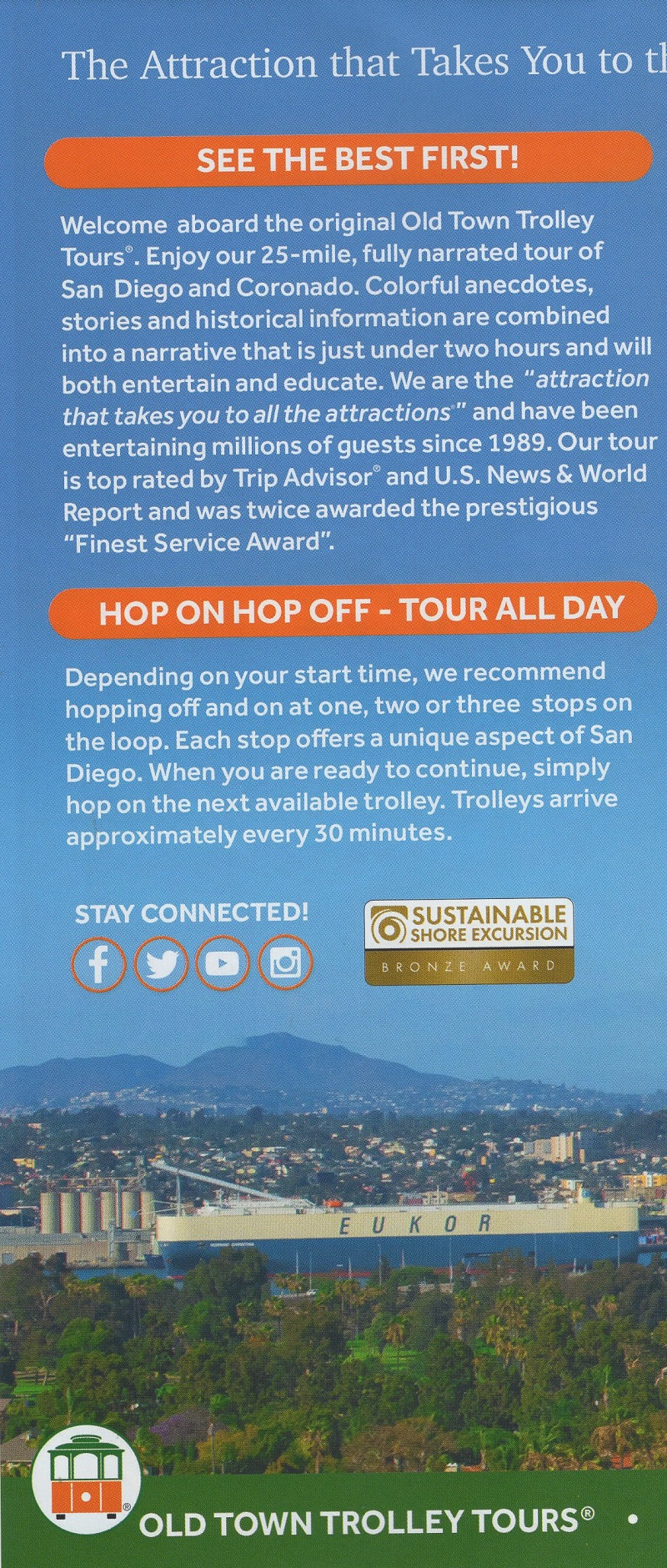 San Diego's Best Sightseeing Tour & Free Map brochure thumbnail