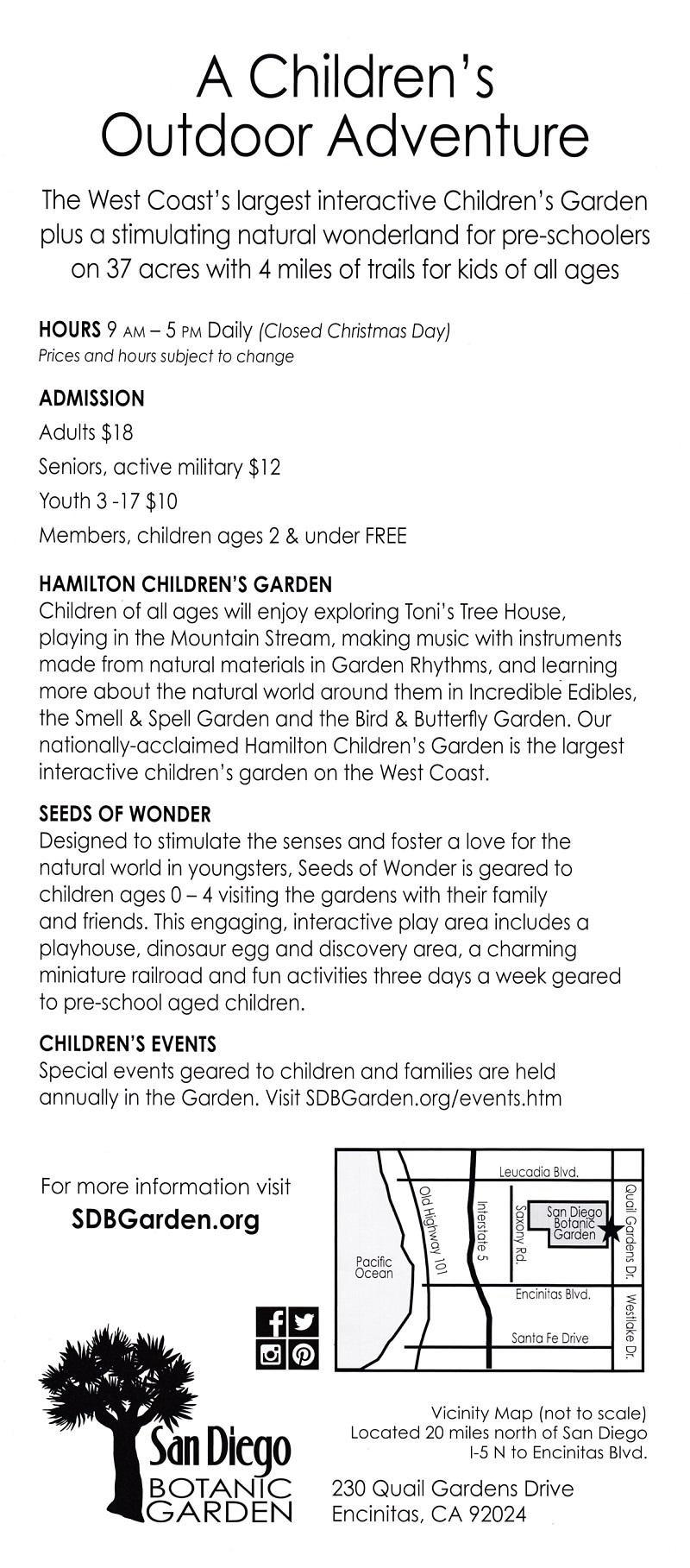 Hamilton Children Gardens brochure thumbnail