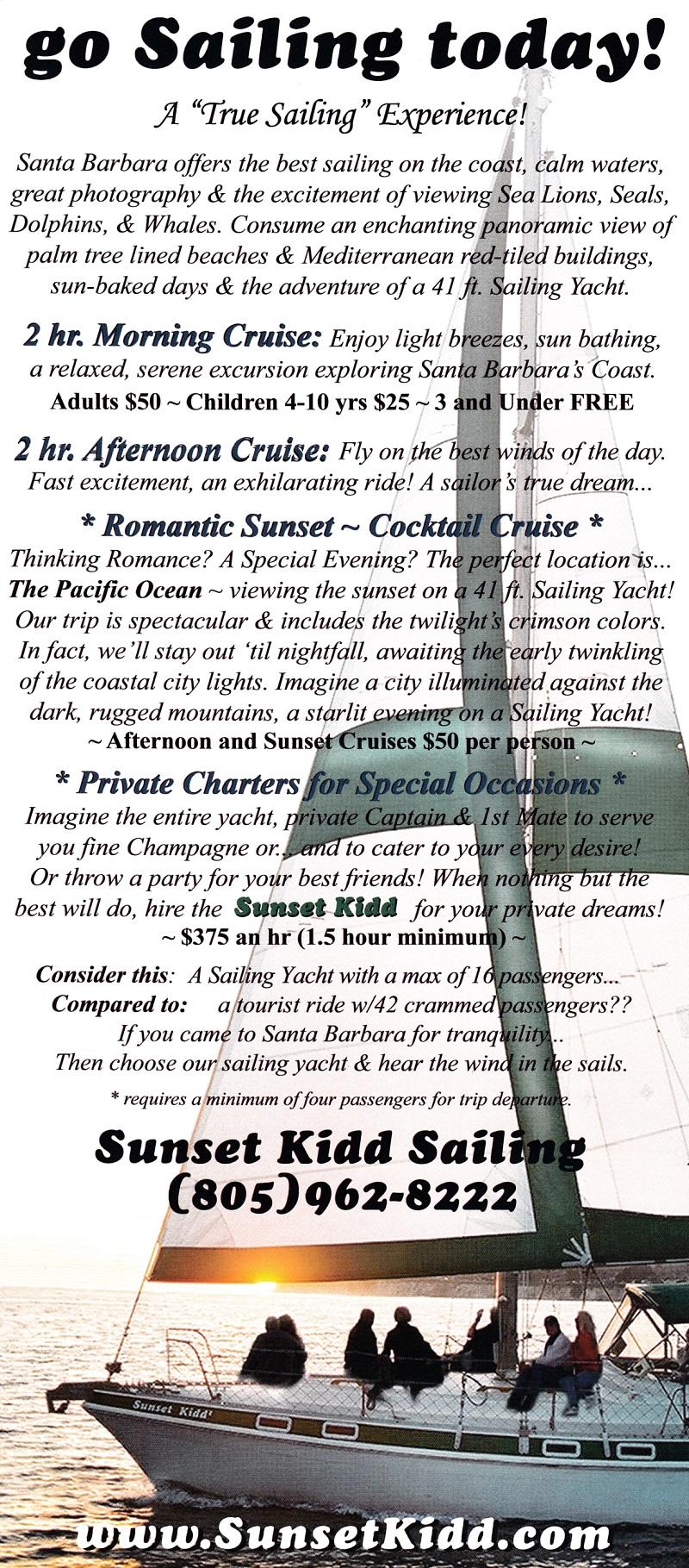 Sailboat Cruises brochure thumbnail