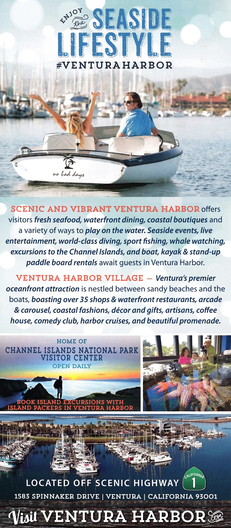 Ventura Harbor Village Back Brochure Cover