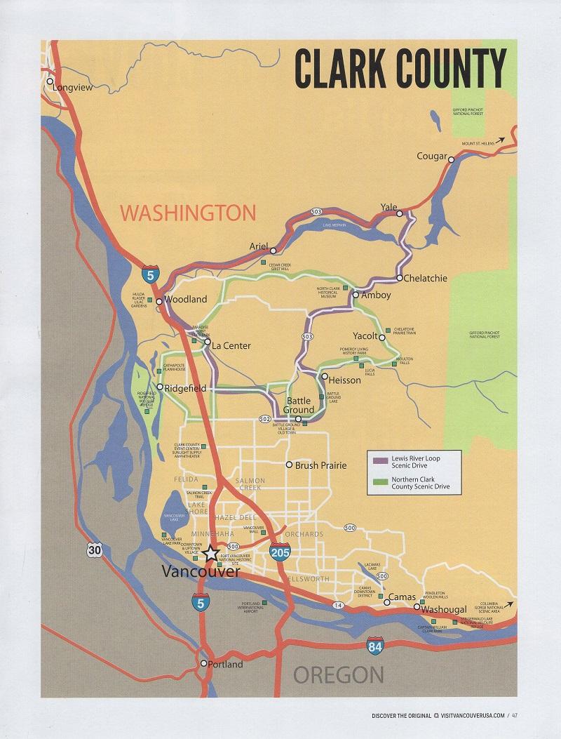 Visit Vancouver USA brochure thumbnail