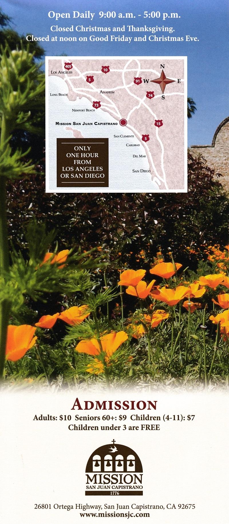 Mission San Juan Capistrano brochure thumbnail