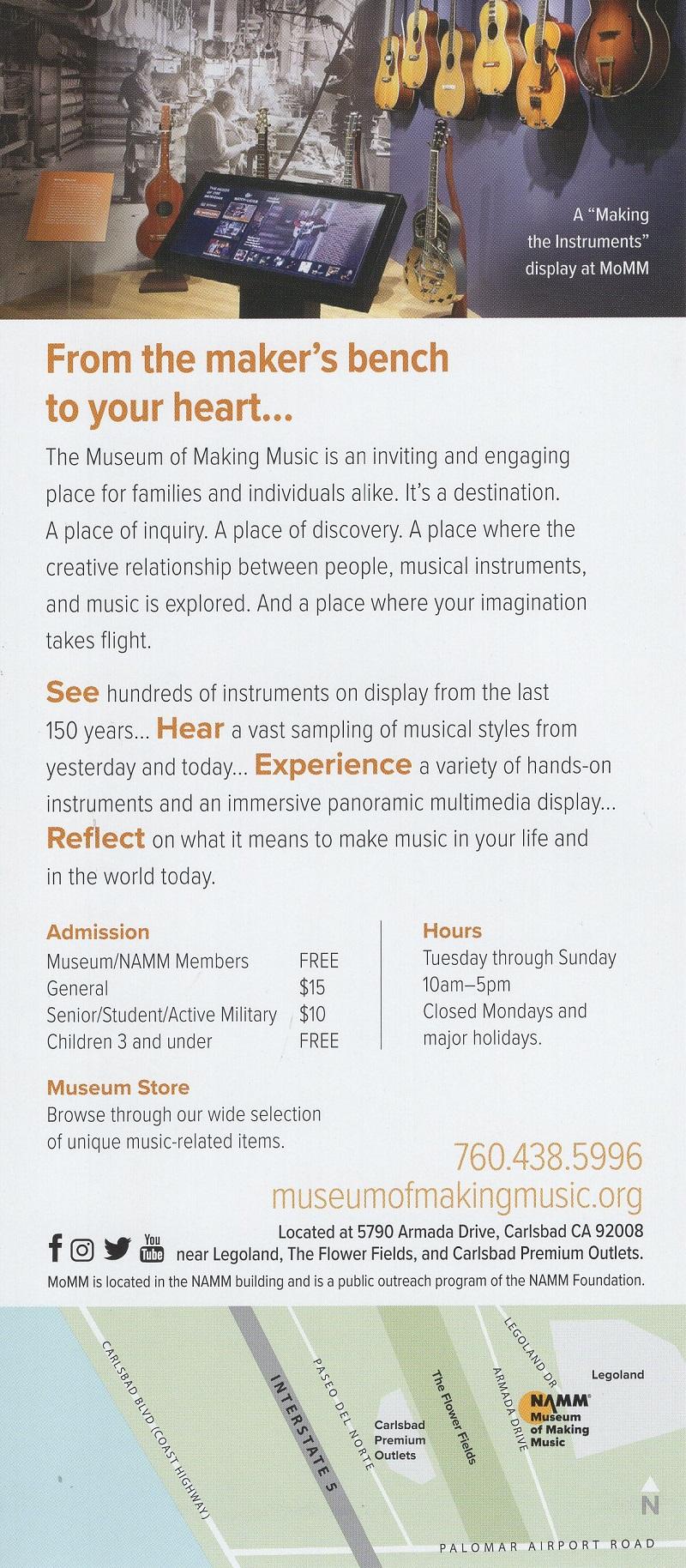 Museum of Making Music brochure thumbnail