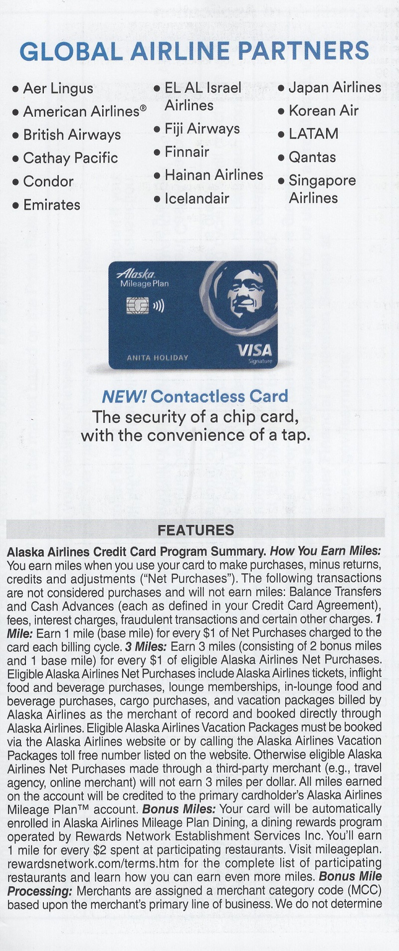 Alaska Airlines Affinity Cards brochure thumbnail