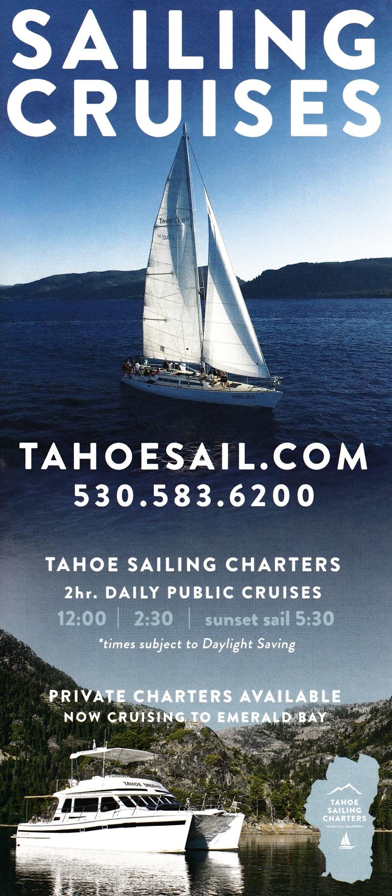Tahoe Sailing Charter