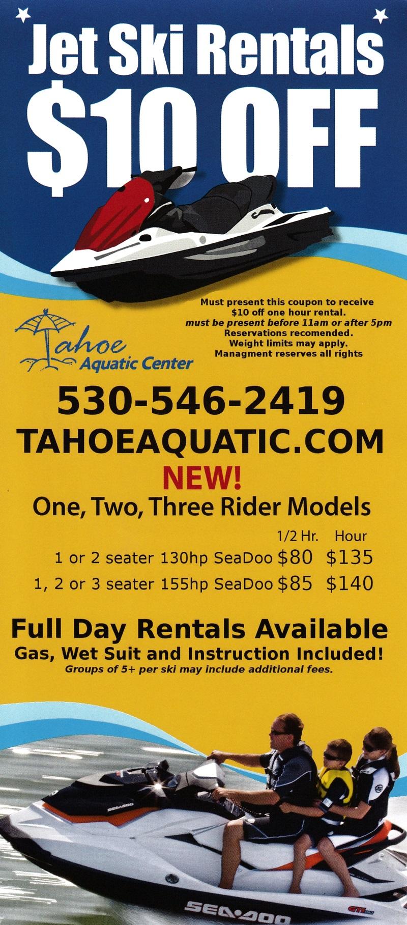 Tahoe Aquatic Center/Jet Skis