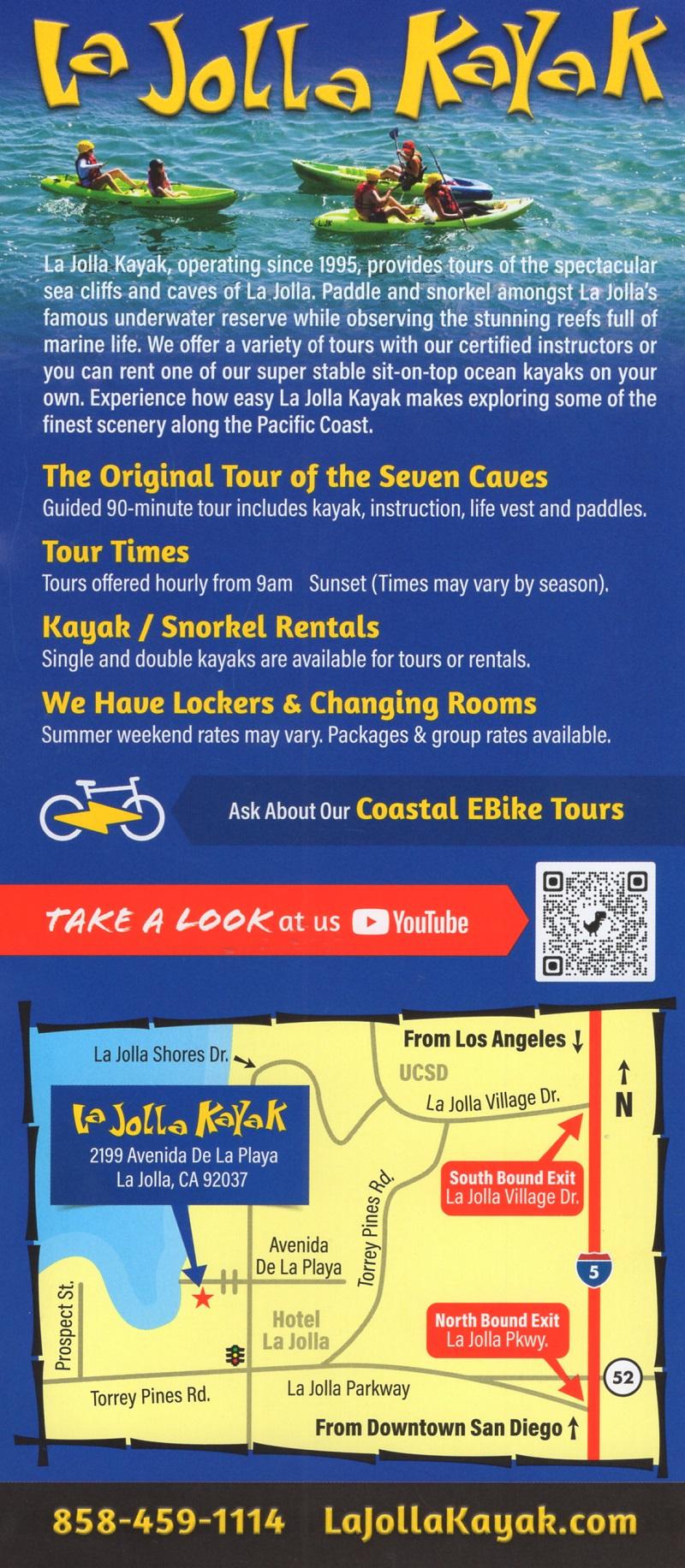 La Jolla Kayak brochure thumbnail