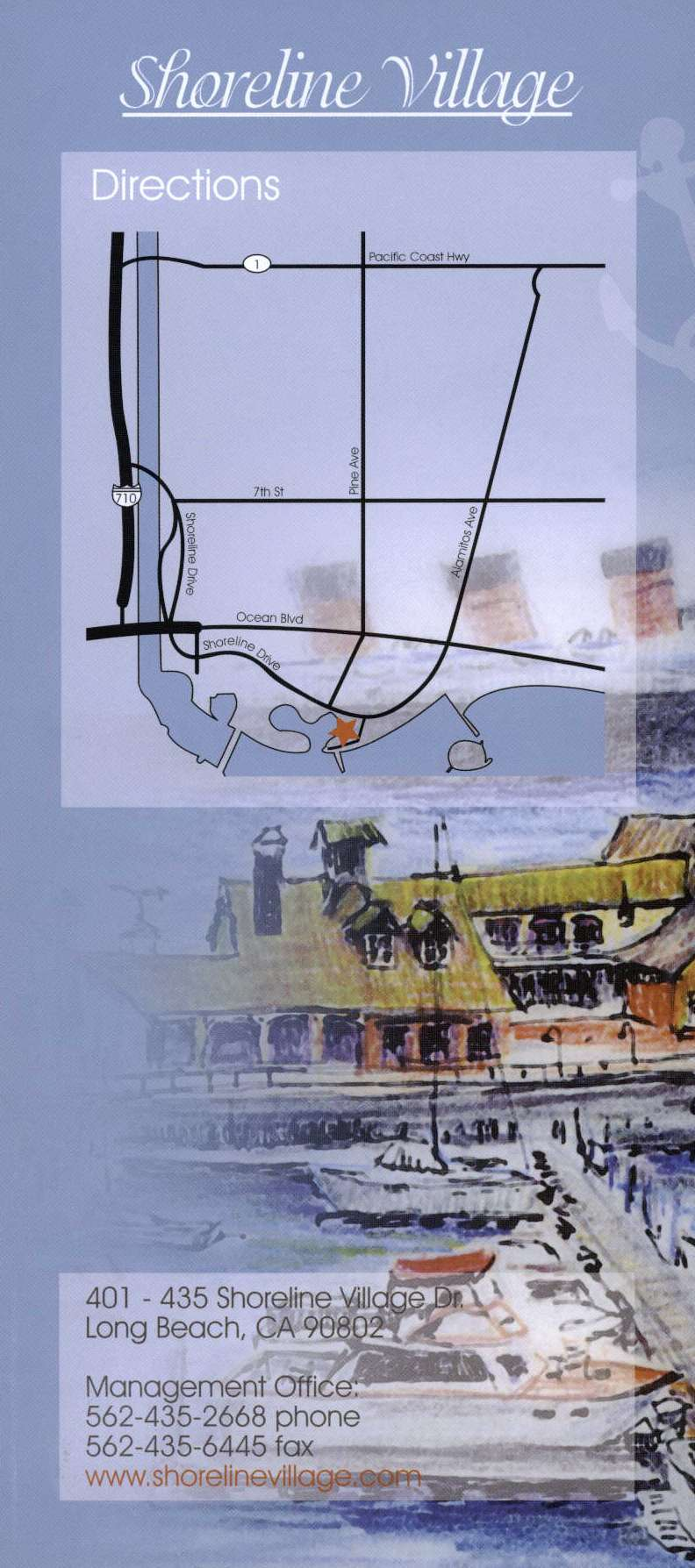 Shoreline Village Back Brochure Cover