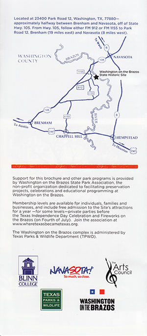 Washington on the Brazos brochure thumbnail
