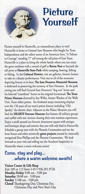 Huntsville Visitors Guide brochure thumbnail