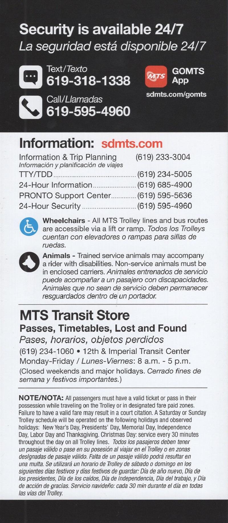 San Diego Metropolitan Transit - Trolley System brochure thumbnail