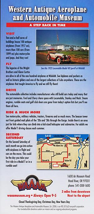 Western Antique Aeroplane & Automobile Museum brochure thumbnail