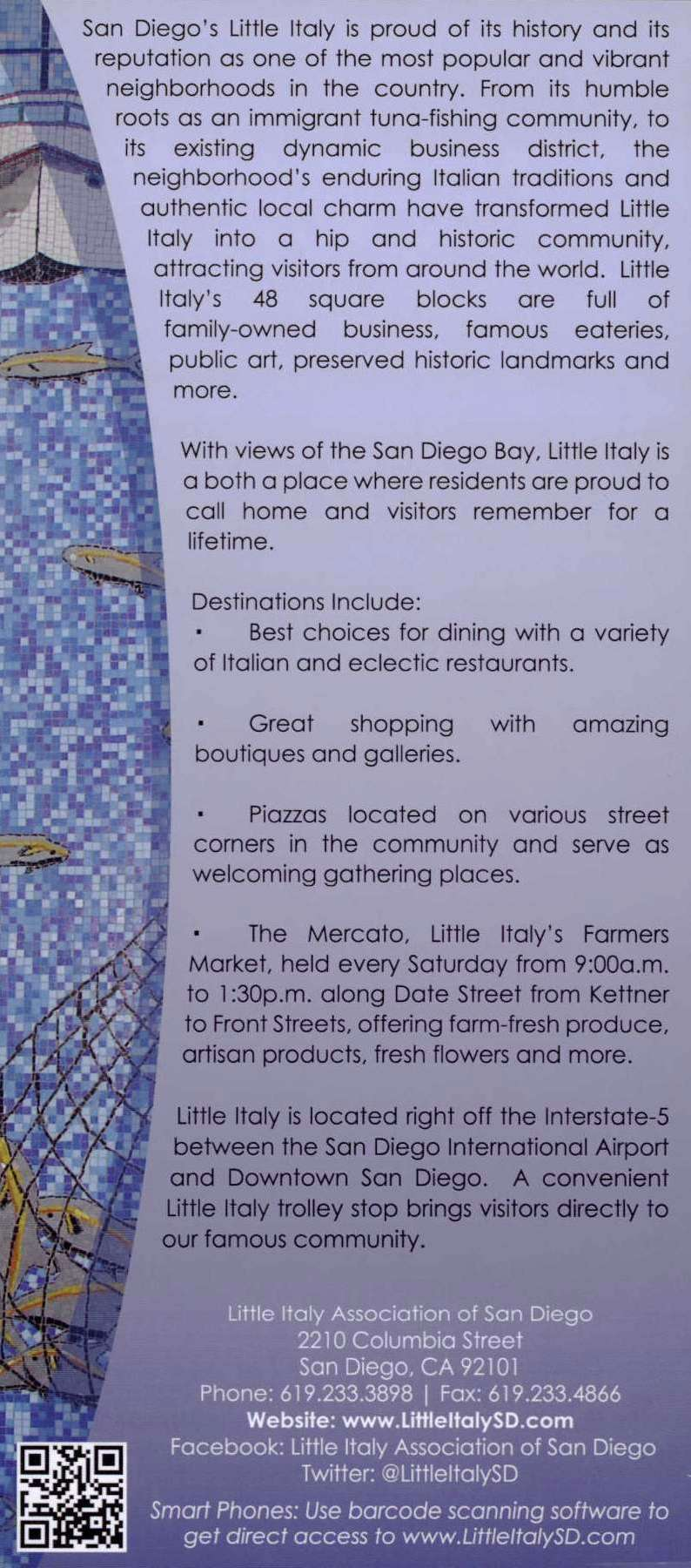 Little Italy Association Back Brochure Cover
