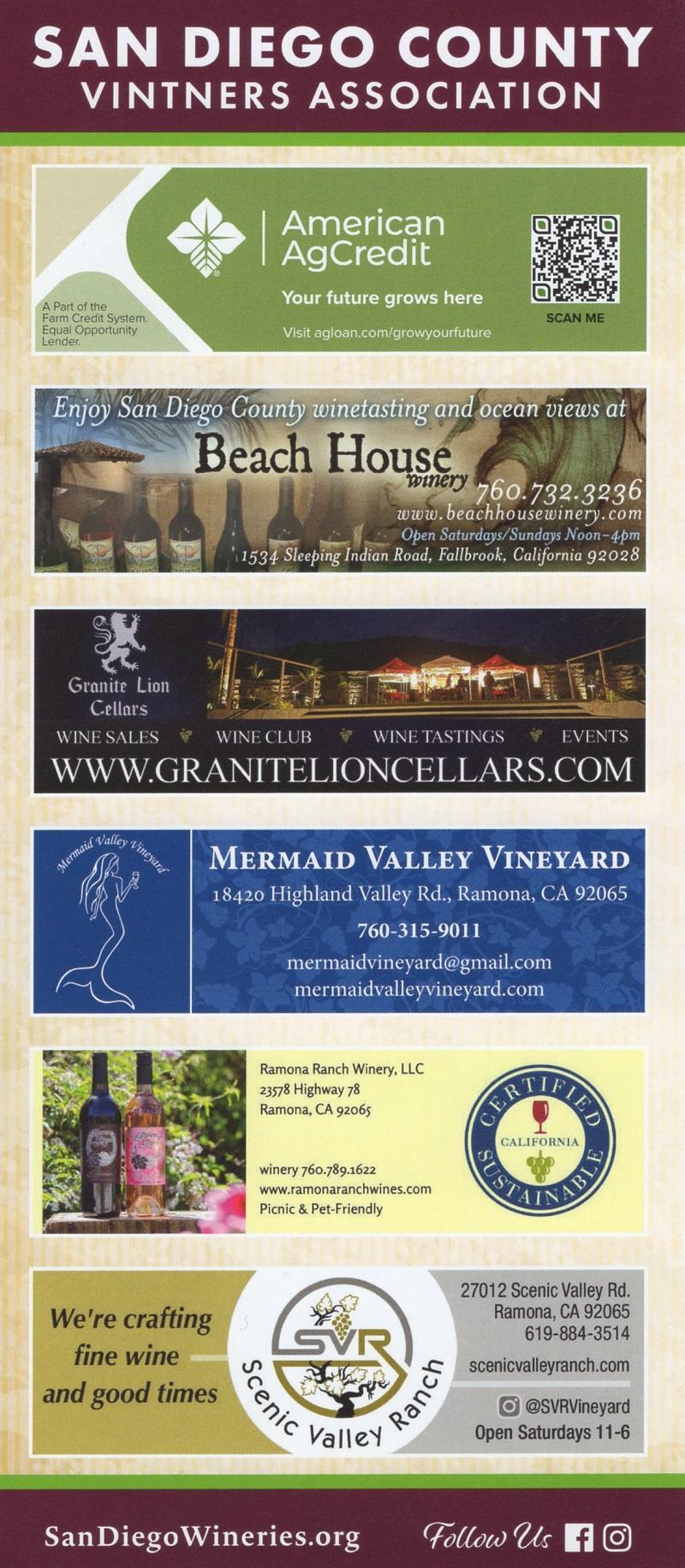 San Diego County Vintners Assn brochure thumbnail