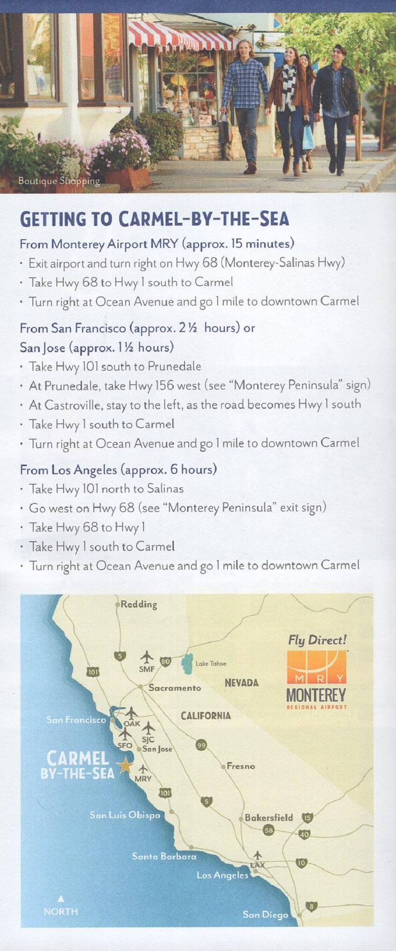 Carmel by the Sea Map brochure thumbnail