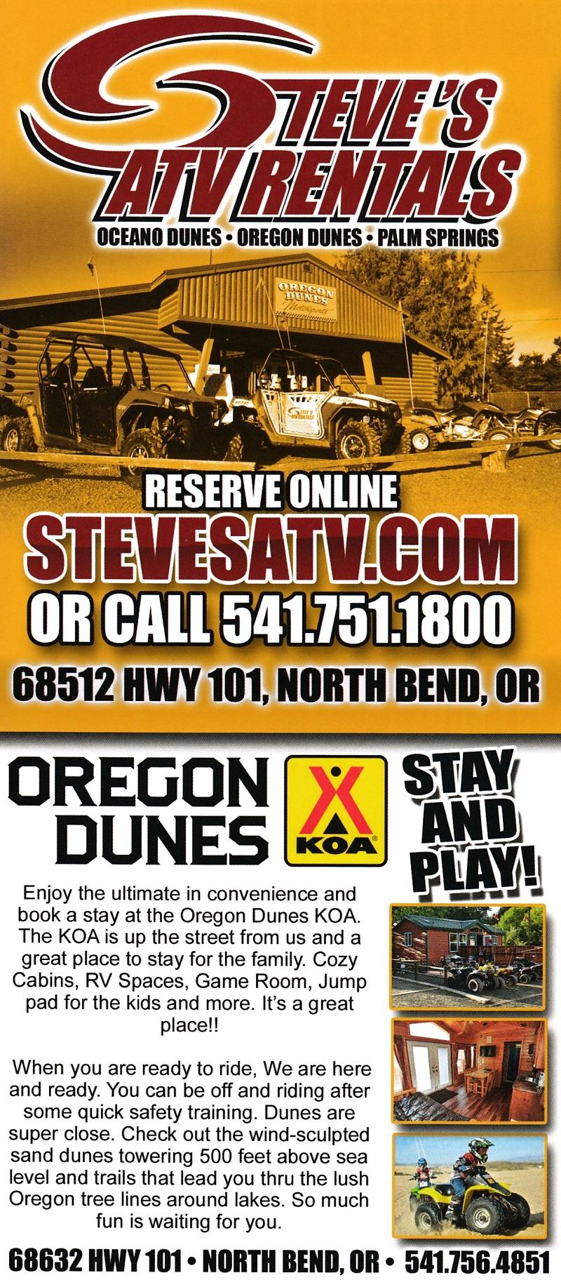 Steve's ATV - Oregon Coast brochure thumbnail