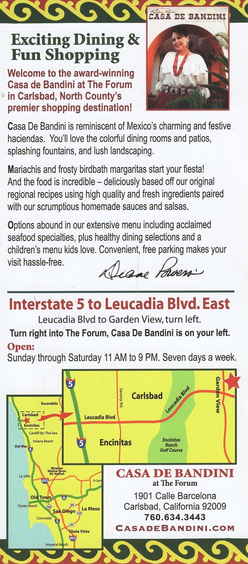Casa de Bandini brochure thumbnail