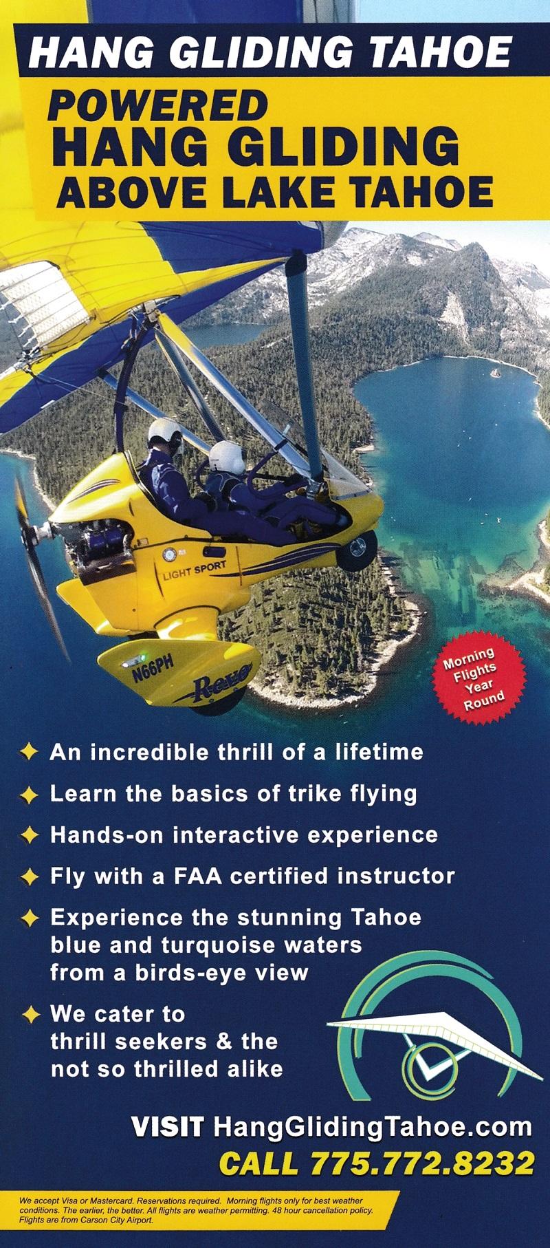 Hang Gliding Lake Tahoe