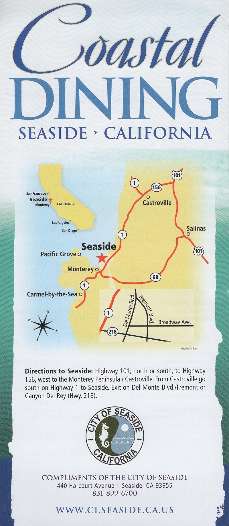 Seaside Dining Guide brochure thumbnail