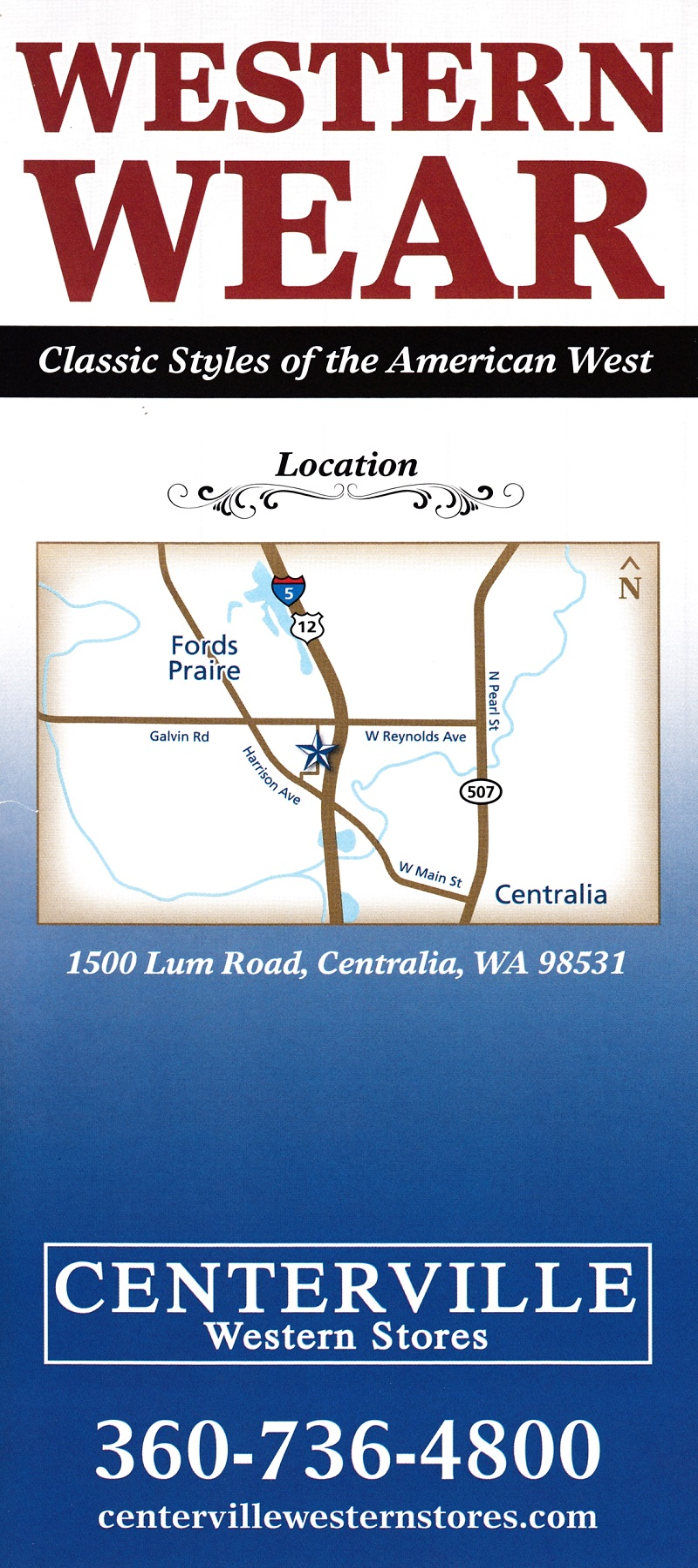 Centerville Western Stores brochure thumbnail