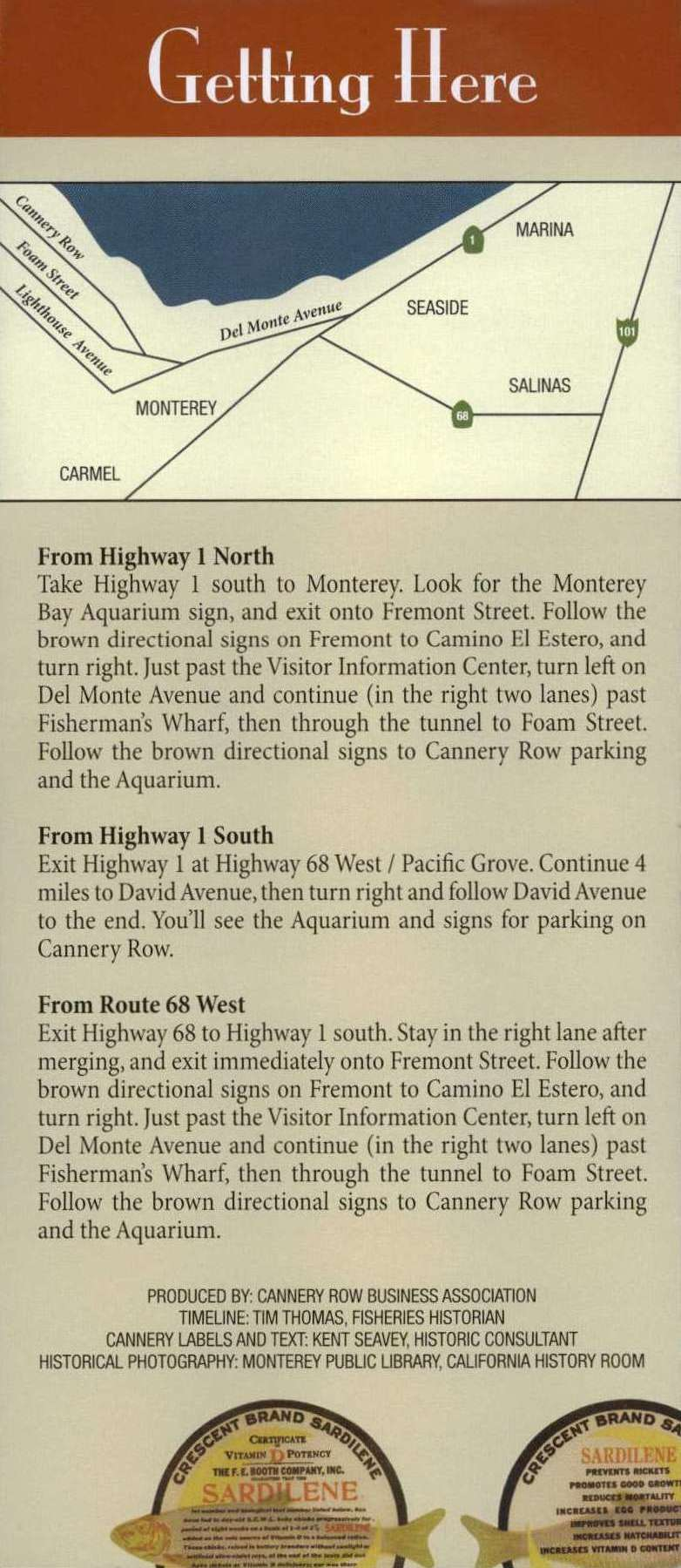 Historic Cannery Row Walking Map brochure thumbnail