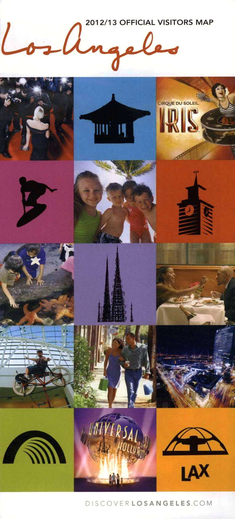 Los Angeles Visitors Map Back Brochure Cover