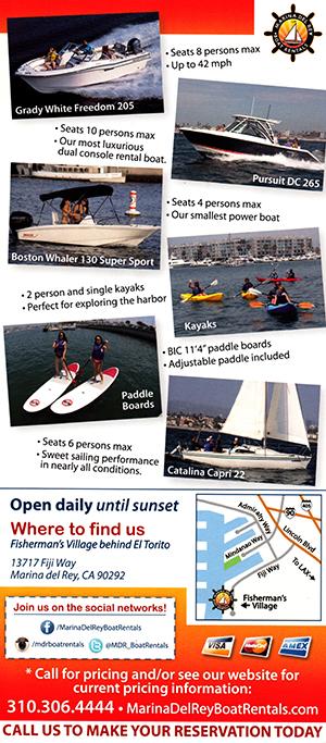 Marina Del Rey Boat Rentals brochure thumbnail
