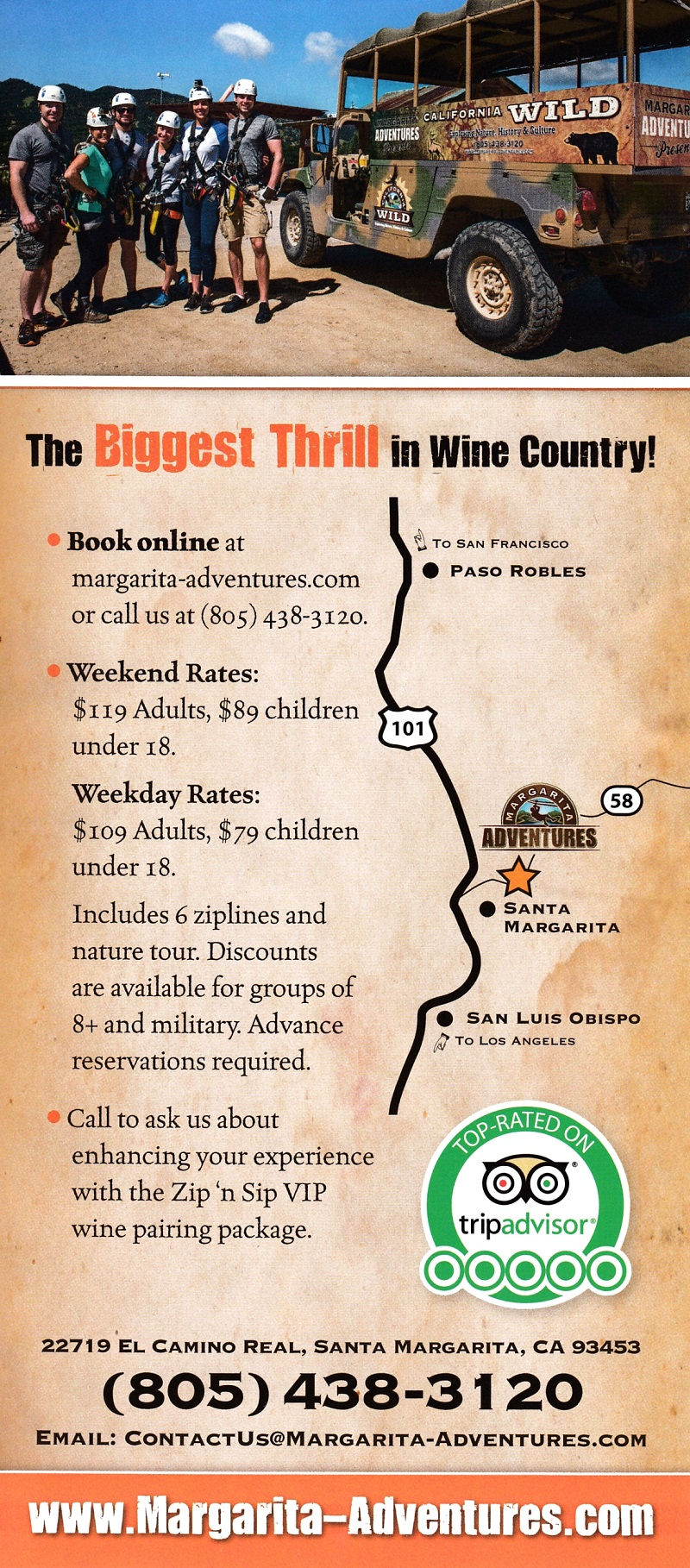 Zipline in the Wine Country brochure thumbnail
