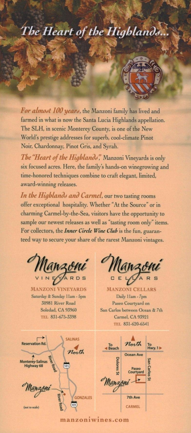 Manzoni Wines brochure thumbnail