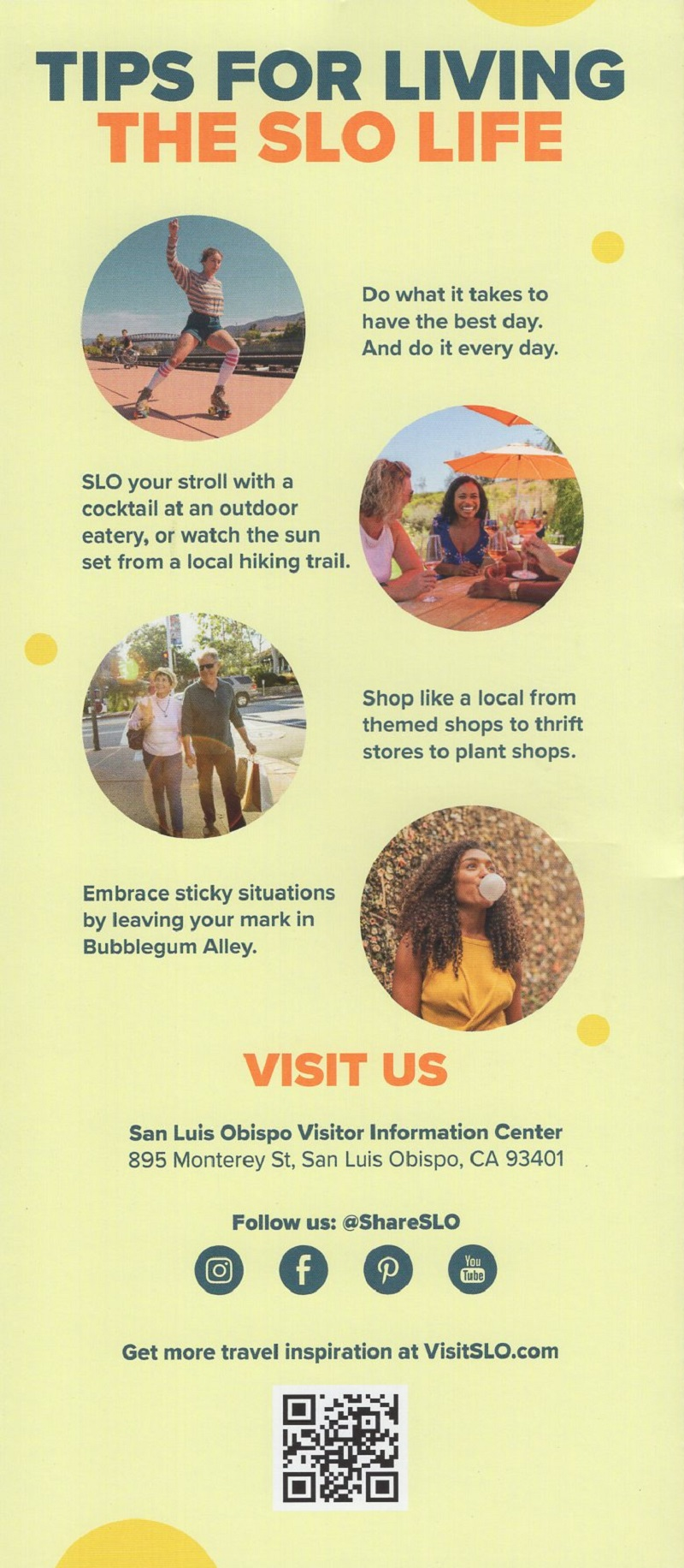 Discover San Luis Obispo Map brochure thumbnail