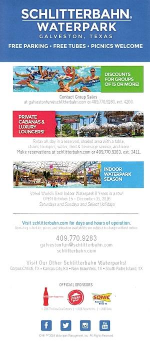 Schlitterbahn - Galveston brochure thumbnail