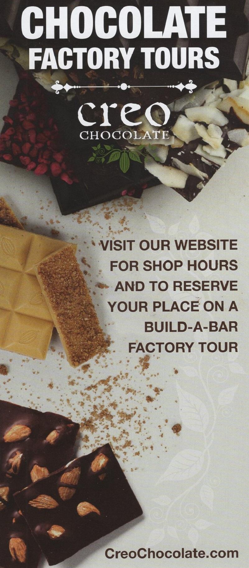 Creo Chocolate Factory Tours
