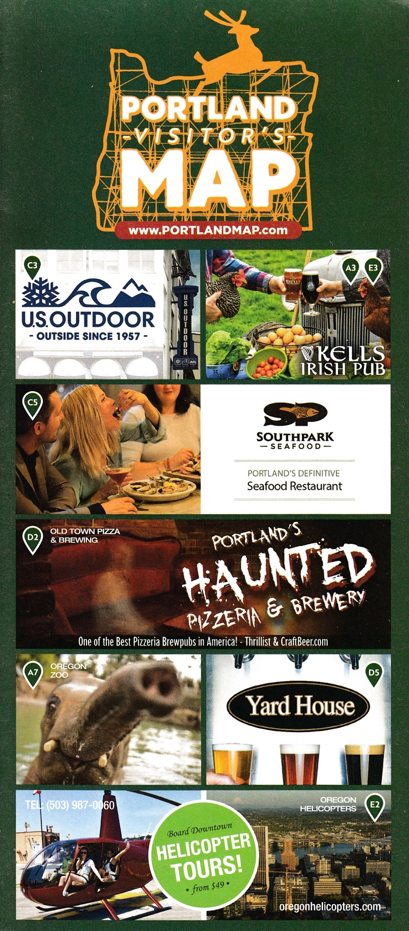 Portland Visitor's Map