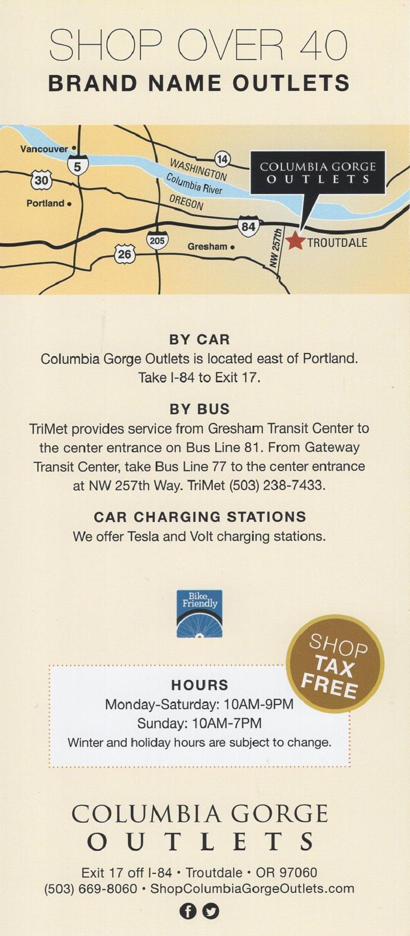Columbia Gorge Outlets brochure thumbnail
