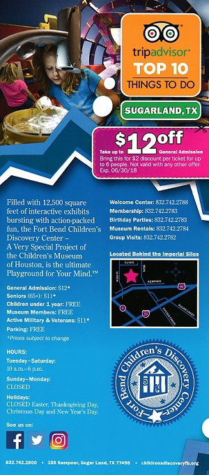 Fort Bend Childrens Discovery brochure thumbnail