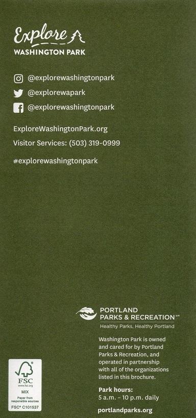 Explore Washington Park Map brochure thumbnail
