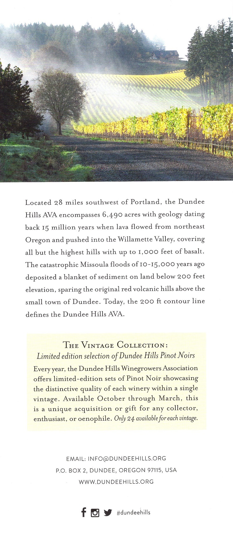Dundee Hill Wine Map brochure thumbnail