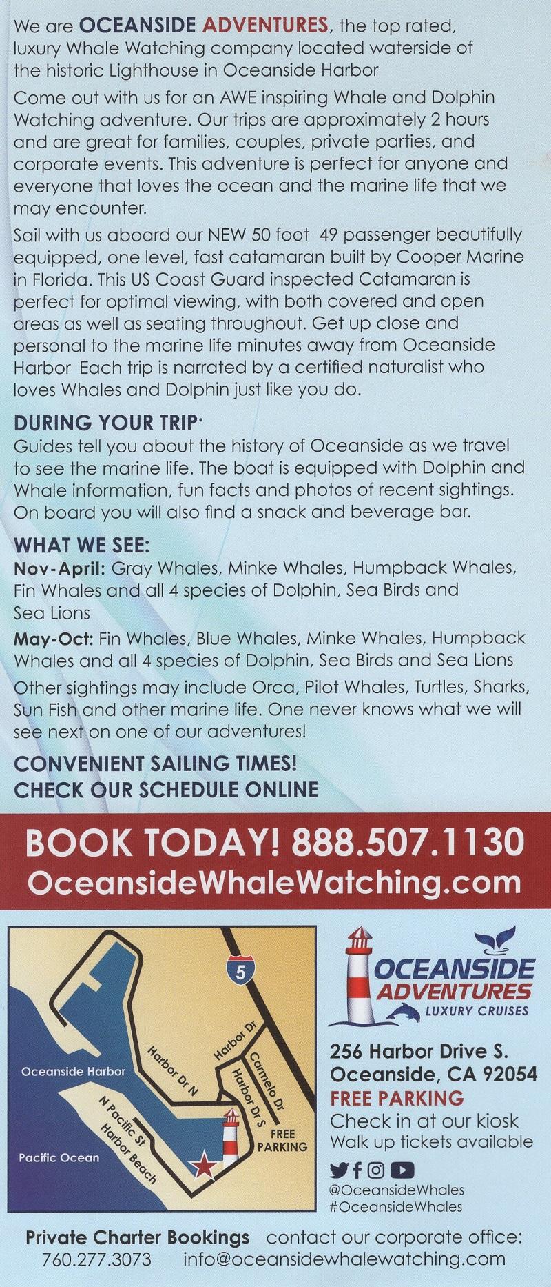 Oceanside Adventures brochure thumbnail