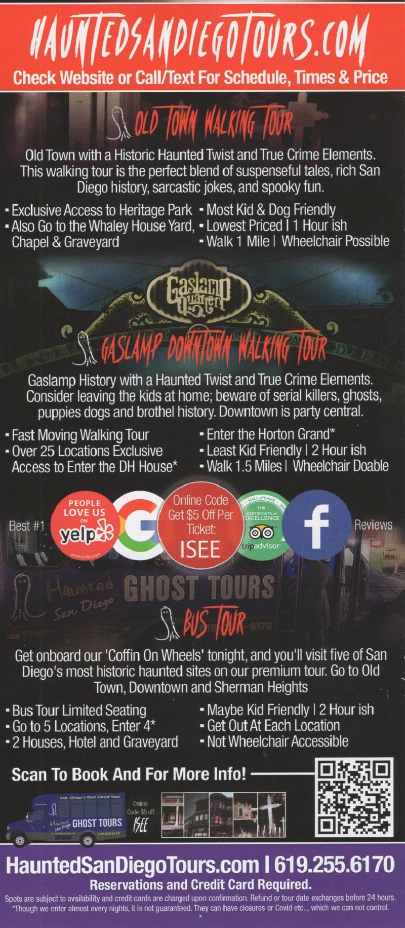 Haunted San Diego Tours brochure thumbnail