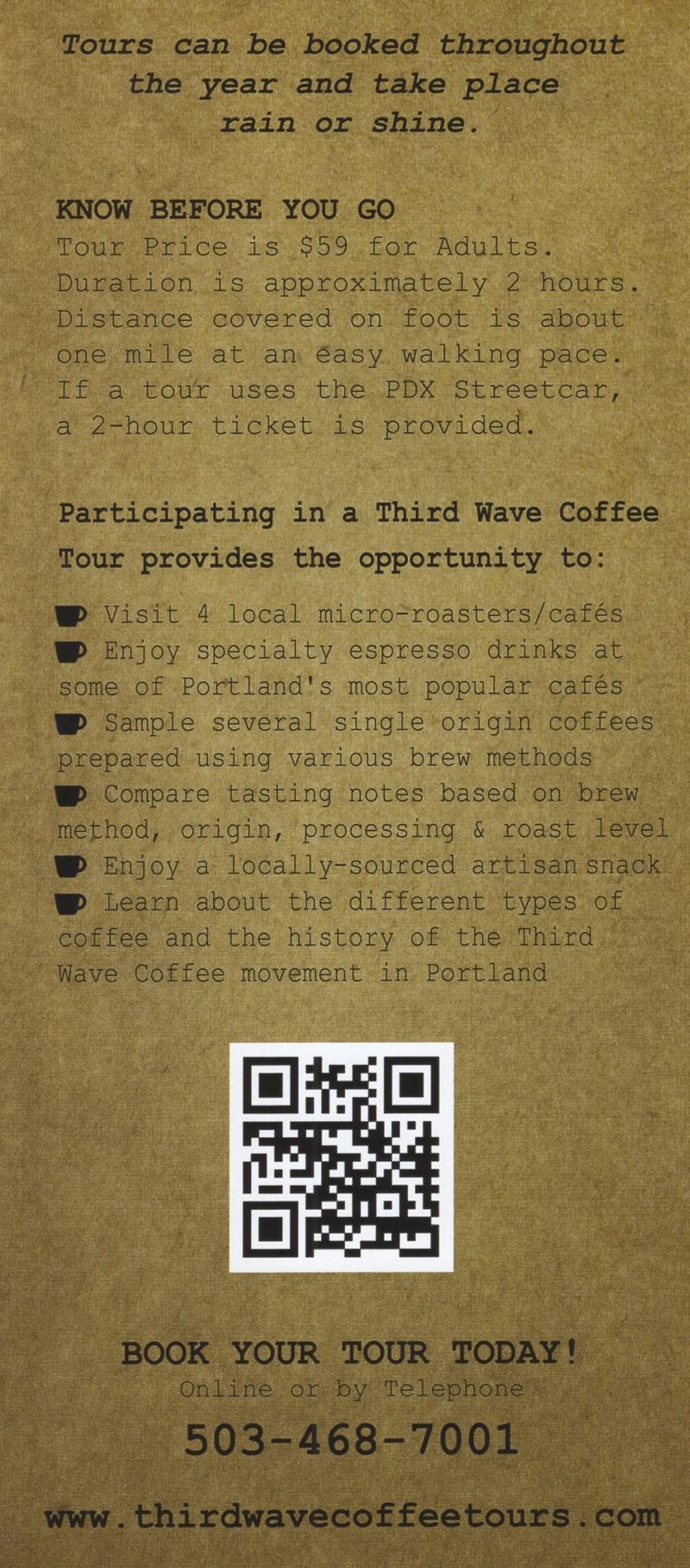 Third Wave Coffee Tours brochure thumbnail
