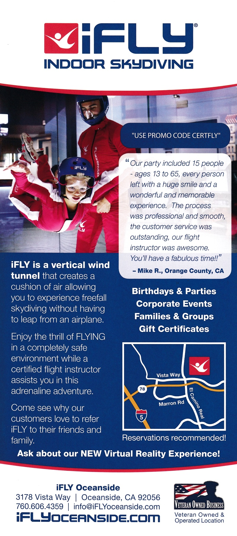 IFly Oceanside brochure thumbnail
