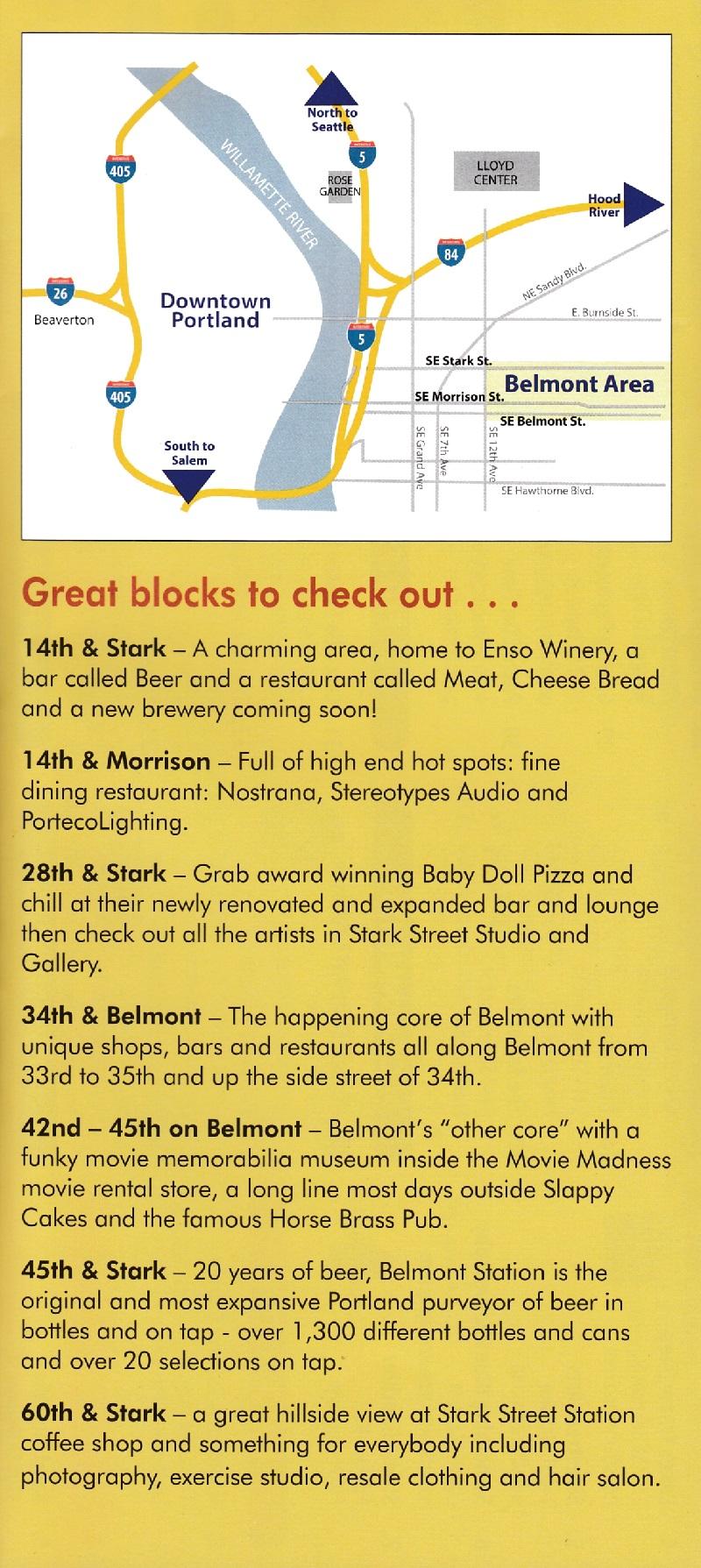 Belmont Area Map brochure thumbnail