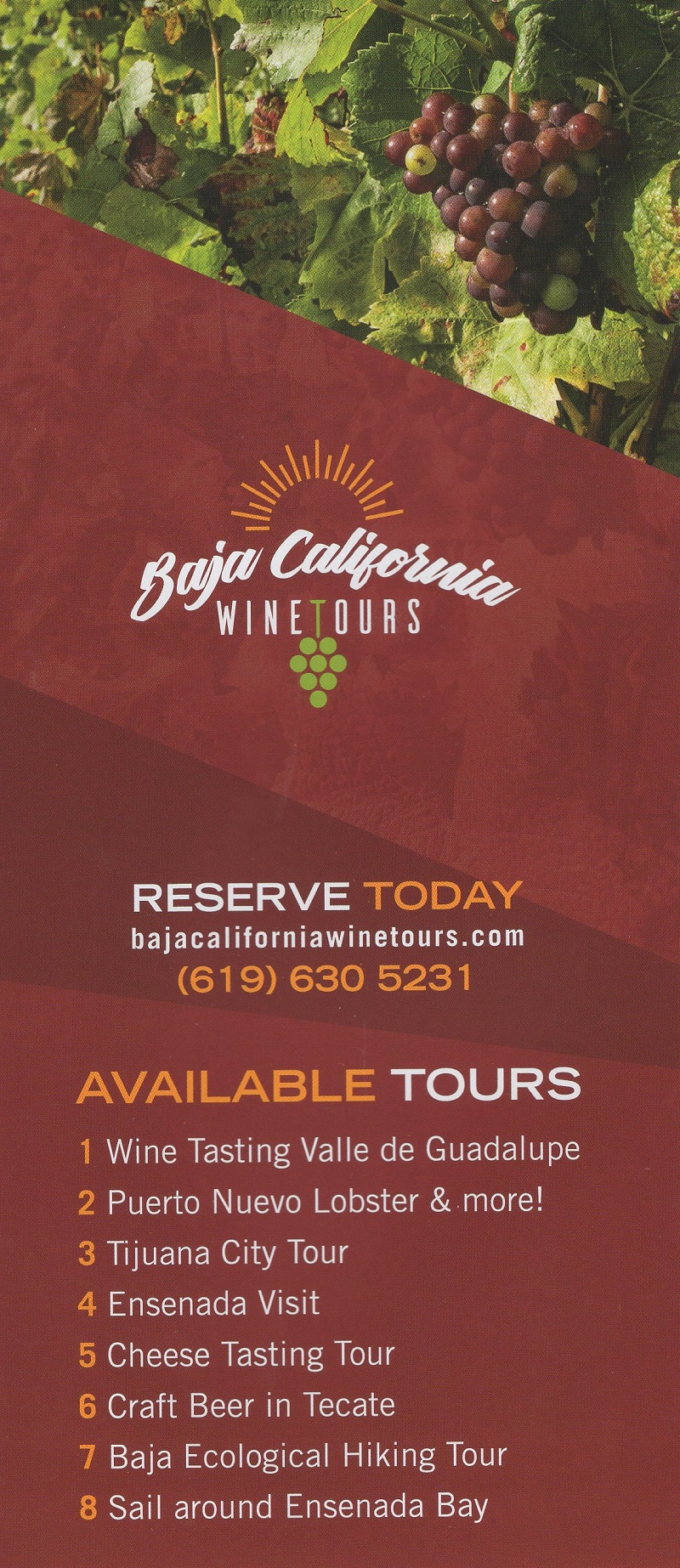Baja California Wine Tours brochure thumbnail