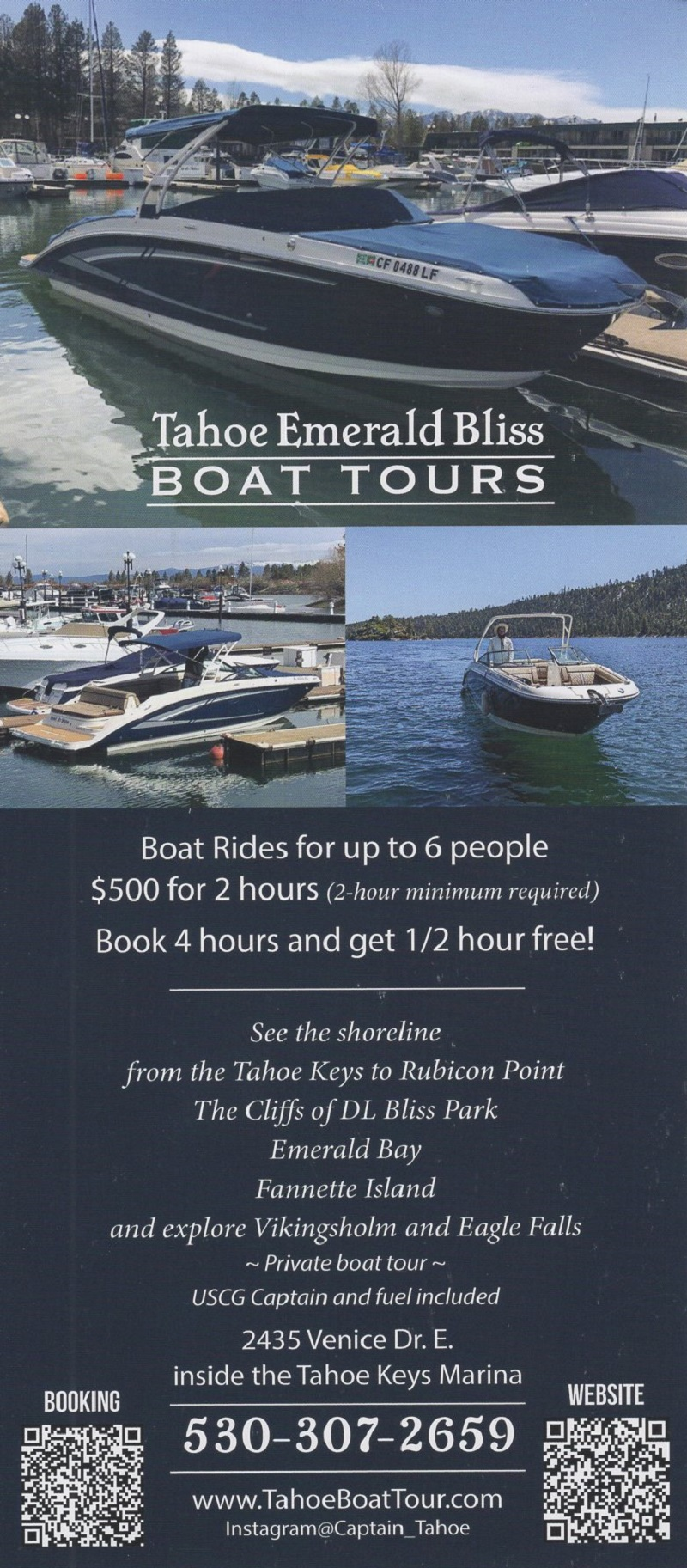 Tahoe Emerald Bliss Boat Tours