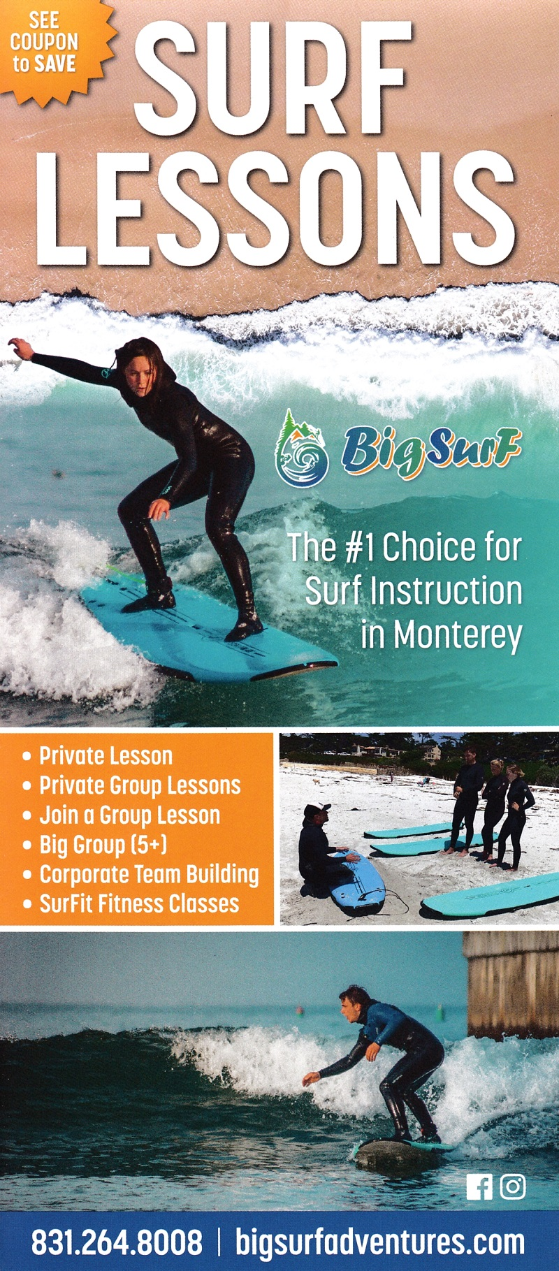 Big Surf Aventures Surf Lesson
