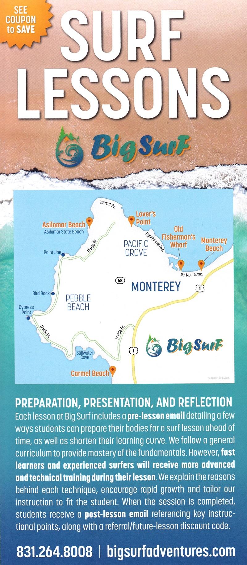 Big Surf Aventures Surf Lesson brochure thumbnail